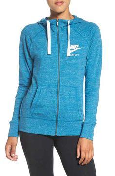Nike 'Gym Vintage' Front Zip Hoodie