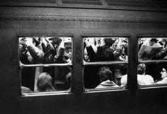 new yorkers rush hour 1950s -