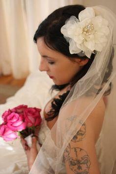 Wedding Veil with Flower