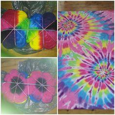 Tie Dye Folding Techniques, Diy Tie Dye Designs, Diy Tie Dye Shirts, Tie Dye Party, Tie Dye Crafts, Spiral Tie Dye, How To Tie Dye, Tie Dye Outfits, Tie Dye Patterns