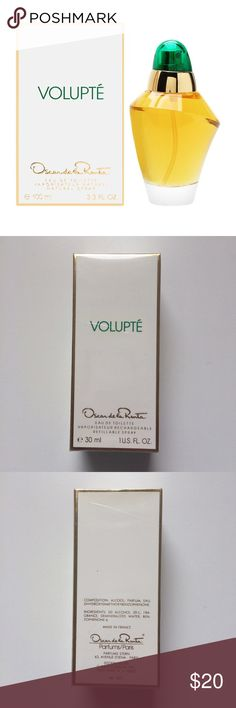 NWOT! Volupte by Oscar De La Renta Eau de Toilette NWOT! Still in plastic. Volupte by Oscar De La Renta Eau de Toilette Women's Spray Perfume, 1 fl oz / 30ml Oscar de la Renta Other