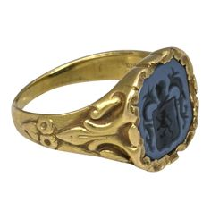 Art Nouveau Intaglio Ring | From a unique collection of vintage signet rings at https://www.1stdibs.com/jewelry/rings/signet-rings/