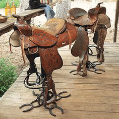 These would be so cool with all of my dad's old saddles!