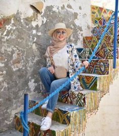 Colorful fashionable hijab outfits – Just Trendy Girls Travel Outfit Summer, Summer Dress Outfits, Casual Summer Dresses, Summer Outfits Women, Modest Dresses, Modest Outfits, Beach Outfits, Modest Clothing, Beach Ootd