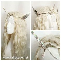 Winged unicorn crown available on our Etsy shop! (link in bio) #halloween…