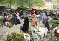 Le marché aux fleurs Victor Gabriel Gilbert 1880
