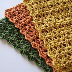 Crochet Patterns Dishcloth Dishcloth By Helda Panagary - Free Crochet Pattern - (ravelry) Crochet Kitchen, Crochet Home, Knit Or Crochet, Crochet Gifts, Free Crochet, Ravelry Crochet, Crochet Mandala, Double Crochet, Crochet Placemats