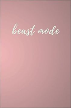 Beast Mode: Beast Mode Fitness Journal; Pink Cursive Notebook; 80 Lined Pages; 5.25 x 8: Pacific Gold Press: 9781975986193: Amazon.com: Books