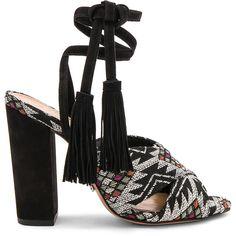 Schutz Damila Heel ($220) ❤ liked on Polyvore featuring shoes, pumps, heels, leather sole shoes, tassel shoes, high heel shoes, heel pump and schutz shoes