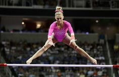 Ashton Locklear competes on the uneven bars during Day 1 of the 2016 U.S. Women's Gymnastics Olympic Trials at SAP Center on July 8, 2016 in San Jose, California.