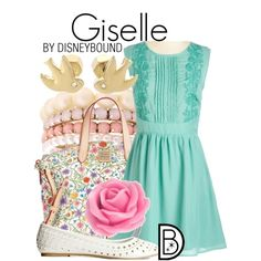 Giselle by leslieakay on Polyvore featuring H&M, Dooney & Bourke, Lipsy and Forzieri
