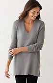 Santa can bring me this sweater in this color greyAshley tunic sweater | J.Jill