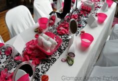 Glamorous Spa Party Bridal Shower