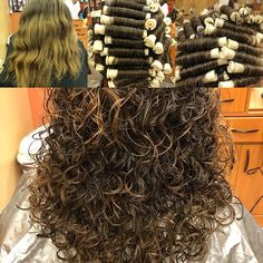 Image may contain: 1 person Medium Permed Hairstyles, Short Permed Hair, Curly Perm, Curly Hair Tips, Curly Hair Styles, Long Perm, Perm Curls, Hair Cutting Techniques, Medium Layered Hair
