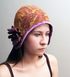 88515a69fa0 Nuno Felted Hat Vintage Inspired Art To Wear Hand made