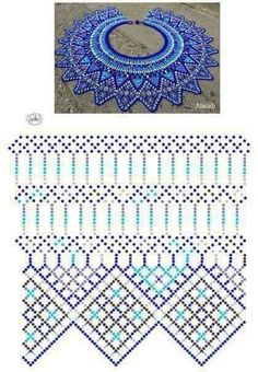 Diy Necklace Patterns, Bead Loom Patterns, Beaded Jewelry Patterns, Peyote Patterns, Beading Patterns, Beading Projects, Beading Tutorials, Beadwork Designs, Beading Techniques