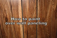 One of the things we are doing to prepare to put our house on the market is to update the very dated wall paneling in our lower level. This stuff is nasty. It's not even real wood. It's a shiny, plasticy, fake version of wood that has seen better days since it was first installed sometime in the