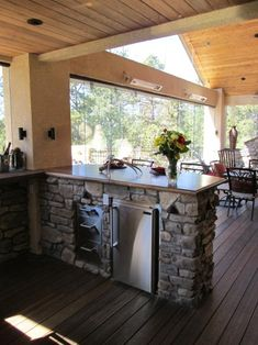 Absolute Black granite on small outdoor kitchen countertops. Looks ...