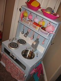 Semi-tutorial for making your own wooden play kitchen.