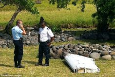 The two-metre-long debris was found by employees of an association cleaning the area...