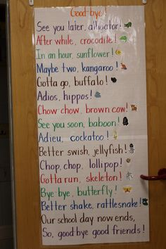 My class last year giggled so much when I said these. Such a great way to end the day.