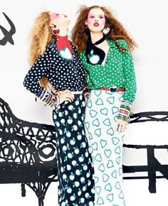 The heart printed skirt gives me an idea for a project....