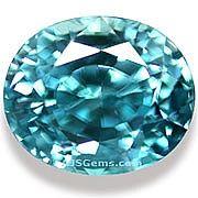 Blue Zircon - 4.11 carats at AJS Gems