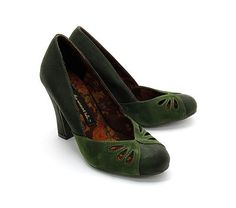 This is the shoe that Peggy wears with the green and purple dress in Agent Carter S2 ep 3: Viola in green by Bait Footwear. There's a nice clear shot of it when she stomps on the hollow floorboard at Dr. Wilkes' house that makes the match unmistakable. (The color looks slightly different, but that's the lighting.)