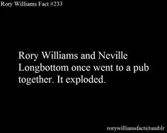 Harry Potter Crossover Neville Longbottom Doctor Who Rory Williams Rory Facts Rory Fact