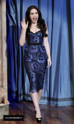 Lily Collins in Collette Dinnigan    I could totally rock this.