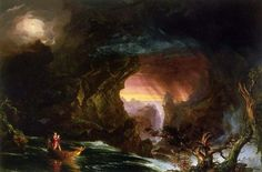 """Le voyage de la vie, Manhood"", huile de Thomas Cole (1801-1848, United Kingdom)"