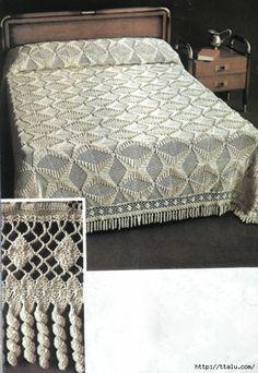 Crochet bedspread ♥LCB-MRS♥ with diagrams