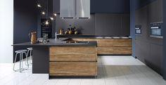 Schröder Küchen | Küche ohne Griffe | Sherwood H GLV engadina, Extrem GLV graphit