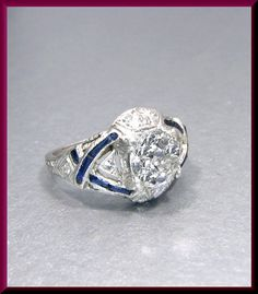 Art Deco Engagement Ring Antique Engagement Ring with Old