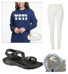 """""""why did i just find out about these shirts"""" by legitmaddywill on Polyvore featuring River Island, Chaco and Everest"""