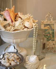 Seashells with pearls!