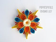 Quilled Paper Ornament  Christmas by PaperSpirals on Etsy, €12.00