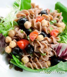 Eden Recipes Rye Spiral Pasta And Garbanzo Salad