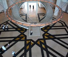 Museum of Islamic Art, Doha, Qatar  Opened in 2008 on a man-made island in Doha Bay, this I. M. Pei–designed building houses a 4,500-work collection of some of the world's greatest Islamic art—and happens to have this grand double staircase.