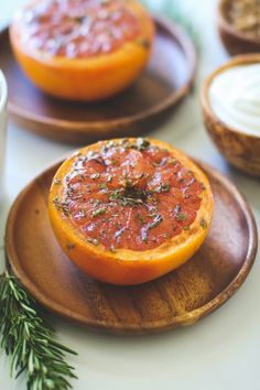 Broiled Grapefruit with Rosemary