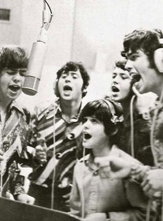 The osmond brothers in the recording studio Donny Osmond, Marie Osmond, Merrill Osmond, Osmond Family, Andy Williams, The Osmonds, Family Boards, Family Units, Recording Studio