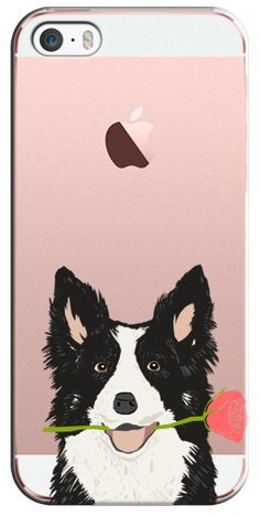 Casetify iPhone SE Classic Snap Case - Funny Border Collie cute design on cell phone case valentines day dog gift for dog person  by Pet Friendly #Casetify