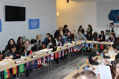 Model UN, a taster day for local year 12's to sample the Department of Politics at the University of Sheffield.