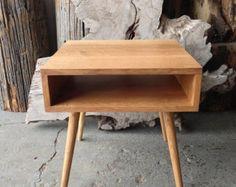 Sample Sale - 2 White Oak Mid Century Side Tables