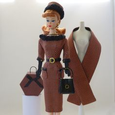 Handmade Vintage Barbie/Silkstone Fashion by Roxy-Wool Houndstooth Outfit-13pcs | eBay