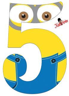 EUGENIA - KATIA ARTES - BLOG DE LETRAS PERSONALIZADAS E ALGUMAS COISINHAS: Números Minions Birthday Candy, Minion Birthday, Birthday Diy, Birthday Party Themes, Minion Theme, Minion Party, Minion Template, Minion Classroom, Minion Craft