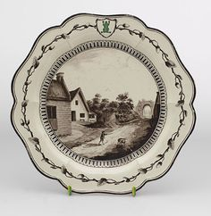 Frog Service Plate made by Wedgwood for Catherine the Great, Wedgwood museum