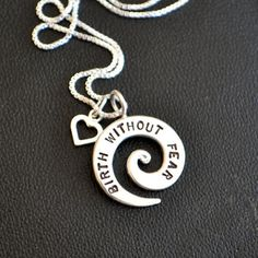 Birth Without Fear Spiral Necklace by moonovermaize on Etsy