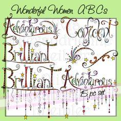 Wonderful Women ABC's A-E