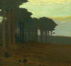 Charles Warren Eaton  The Pine Grove-Twilight, ca. 1900-10  (Oil on canvas, 20 x 30 inches)  Spanierman Gallery, NYC
